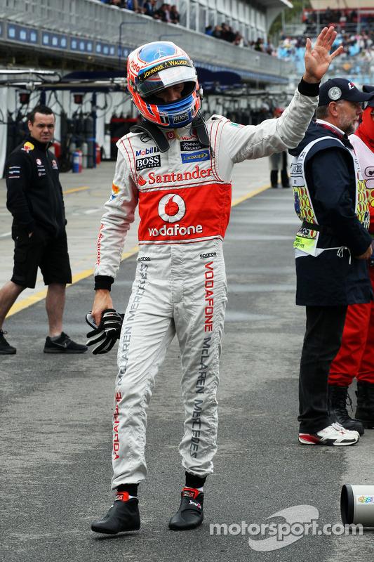 Jenson Button, McLaren no parque fechado