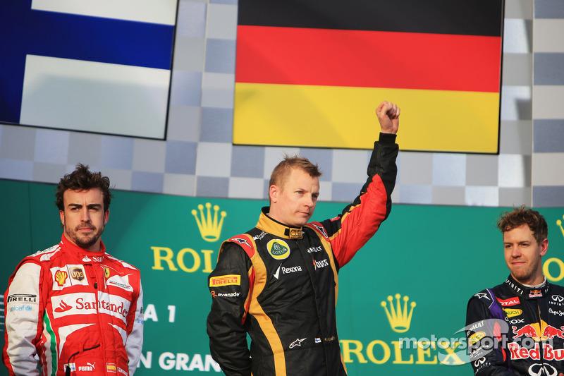 A pesar de la victoria en la apertura del campeonato, en Australia, Raikkonen no corrió en las últimas dos carreras por una cirugía para aliviar dolores en la espalda. en su lugar, Lotus utilizó a otro finlandés, Heikki Kovalainen.