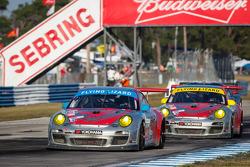 #44 Flying Lizard Motorsports Porsche 911 GT3 Cup: Pierre Ehret, Alexandre Imperatori, Brett Sandberg, #45 Flying Lizard Motorsports Porsche 911 GT3 Cup: Nelson Canache, Spencer Pumpelly, Brian Wong