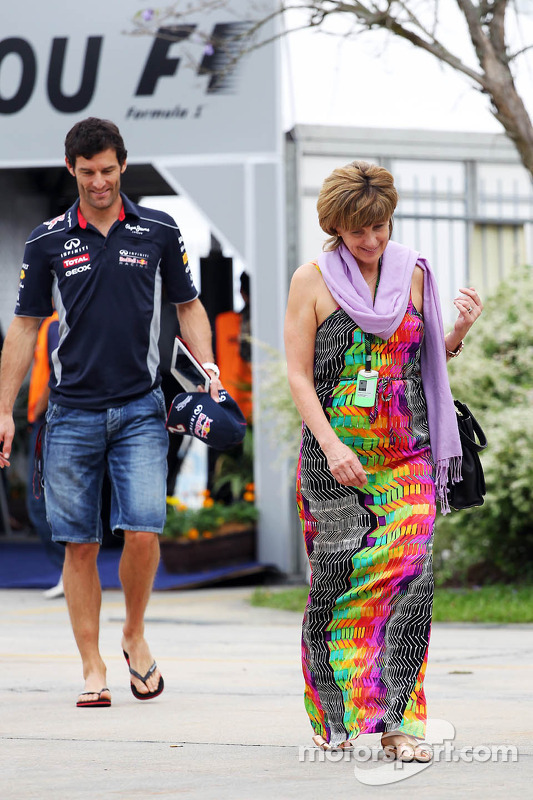 Mark Webber, Red Bull Racing com esposa Ann Neal