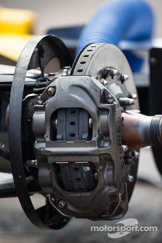 Detalhe do disco de freio