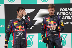 Podium: race winner Sebastian Vettel, Red Bull Racing, second place Mark Webber, Red Bull Racing