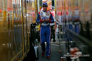 Joey Logano, Penske Racing Ford walks to his hauler after an altercation with Tony Stewart