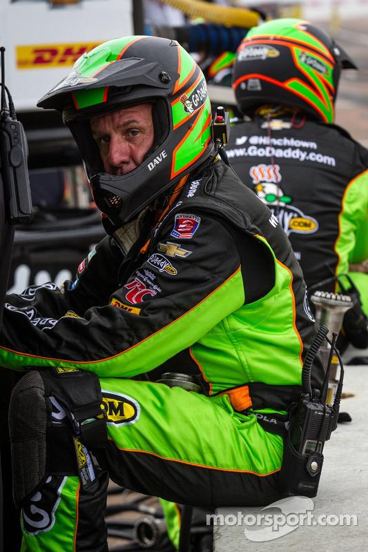 Membro do equipe de James Hinchcliffe, Andretti Autosport Chevrolet, algumas voltas antes do final da corrida