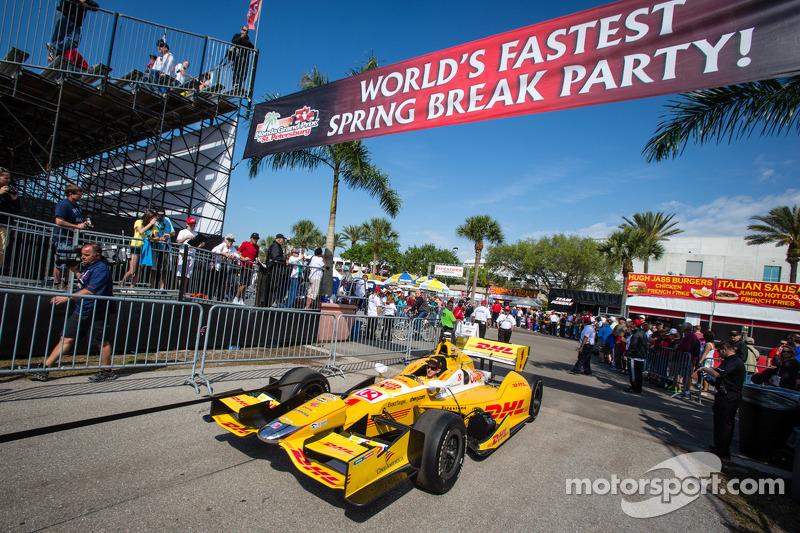 De auto van Ryan Hunter-Reay, Andretti Autosport Chevrolet