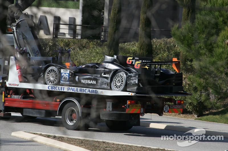 Damage to the #26 G-Drive Racing Oreca 03 Nissan: Roman Rusinov, John Martin, Mike Conway