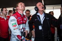 Pole winner Marcel Fässler with Dr. Wolfgang Ullrich