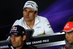 Adrian Sutil, Sahara Force India F1, na conferência de imprensa da FIA