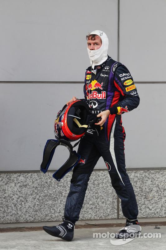 Sebastian Vettel, Red Bull Racing no parque fechado