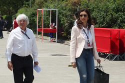 Bernie Ecclestone, CEO Formula One Group, and his fiance Fabiana Flosi