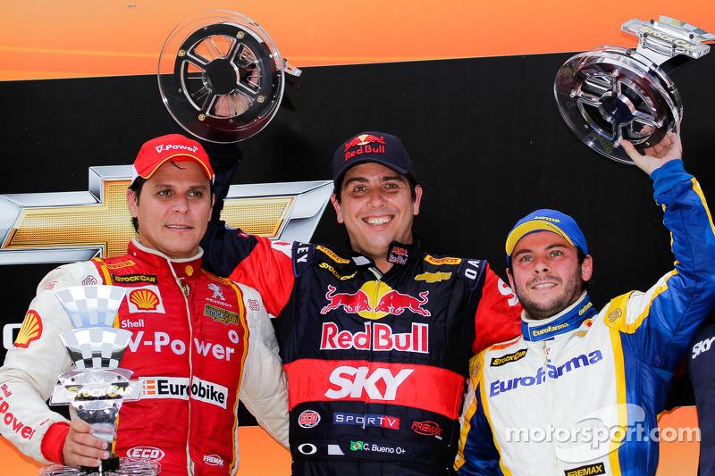 O vencedor Caca Bueno, segundo colocado Valdeno Brito, terceiro colocado Ricardo Mauricio
