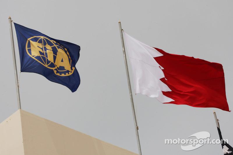 FIA y bandera de Bahrein