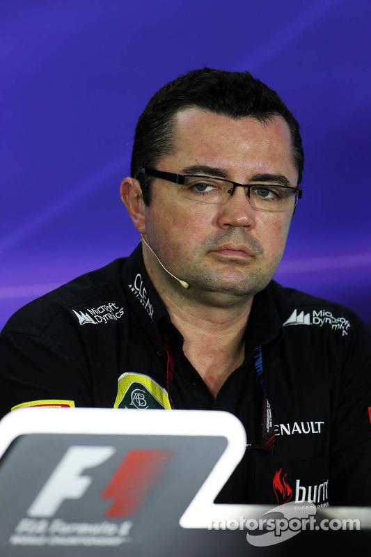 Eric Boullier, chefe da equipe Lotus F1 da Conferência de Imprensa FIA