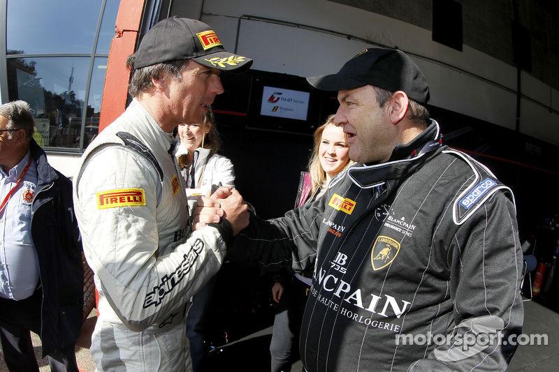 Peter Kox celebrates pole position for qualifying race