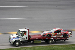 The car of David Reutimann after a crash