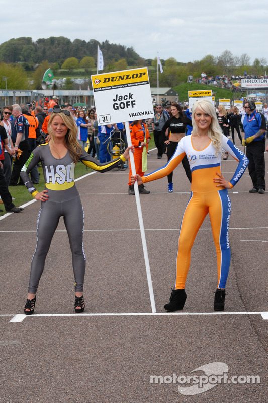 RCIB Insurance Racing Grid girl