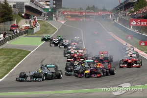Start of the race, Nico Rosberg, Mercedes GP
