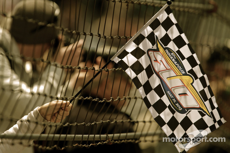 Een Indy 500 vlag