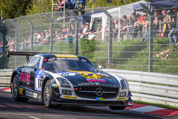 #10 Black Falcon Mercedes-Benz SLS AMG GT3 (SP9): Andrii Lebed, Andreas Simonsen, Dennis Rostek, Harald Proczyk