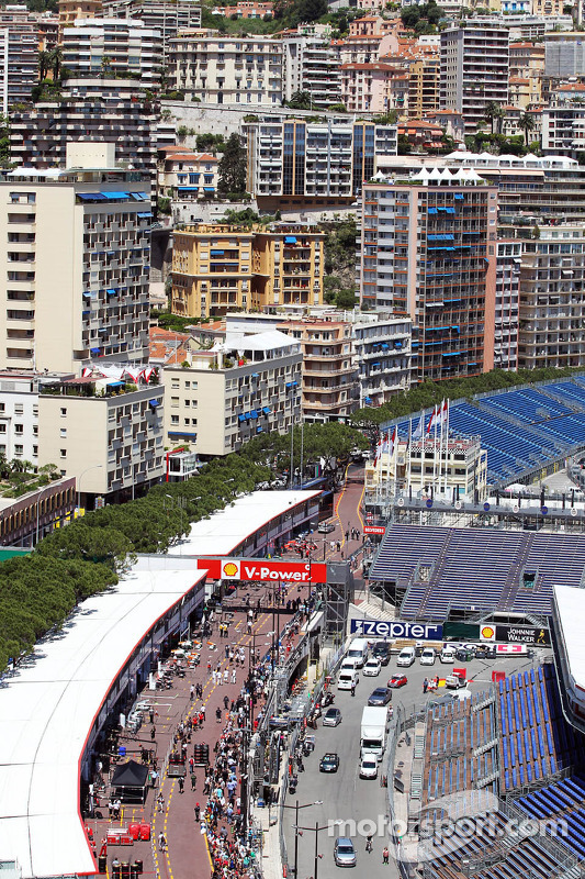 Scenic view of the pits