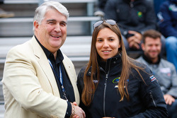 Simona de Silvestro at the drivers meeting