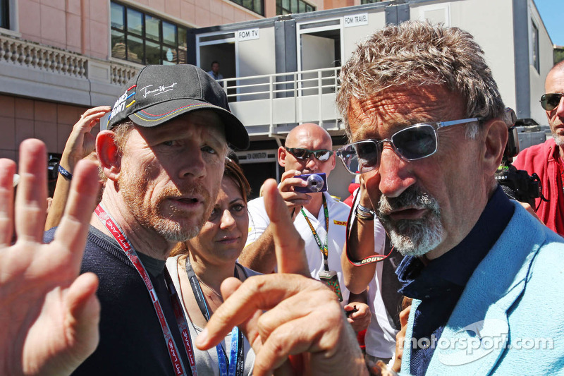(L naar R): Ron Howard, Film Director met Eddie Jordan, BBC-expert