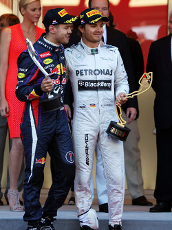 The podium, Red Bull Racing and race winner Nico Rosberg, Mercedes AMG F1 on the podium