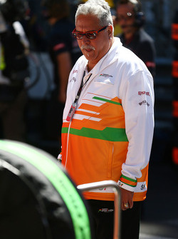 Dr. Vijay Mallya, Sahara Force India F1 Team Owner on the grid as the race is stopped.