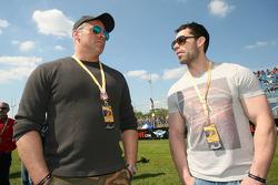 Matt LeBlanc and Kelvin Fletcher