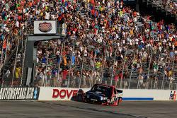 Race winner Kyle Busch takes the win