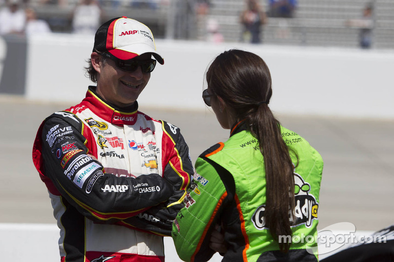 Jeff Gordon and Danica Patrick