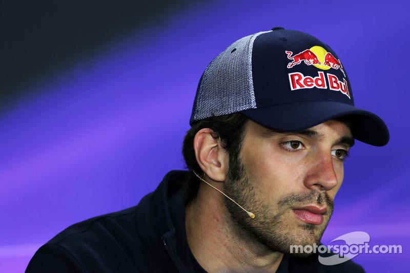 Jean-Eric Vergne, Scuderia Toro Rosso in the FIA Press Conference