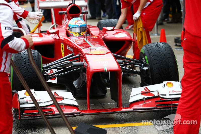 Fernando Alonso, Ferrari F138 front wing