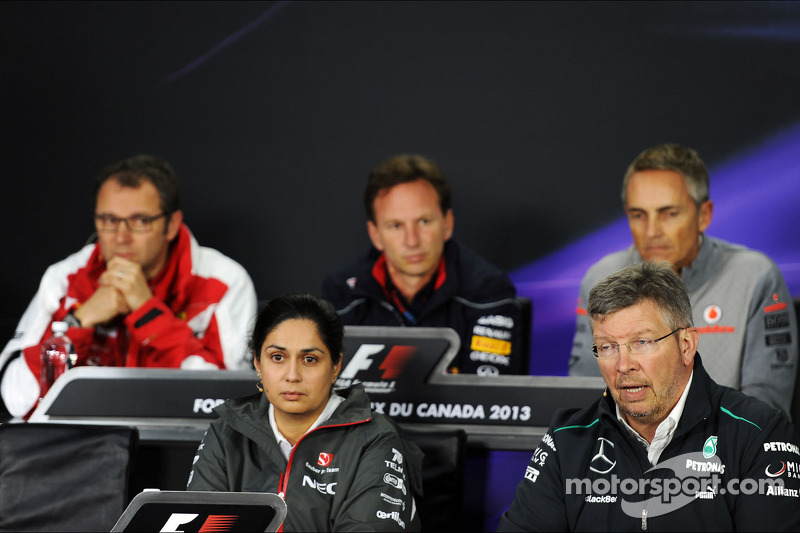 The FIA Press Conference, Ferrari General Director; Christian Horner, Red Bull Racing Team Principal