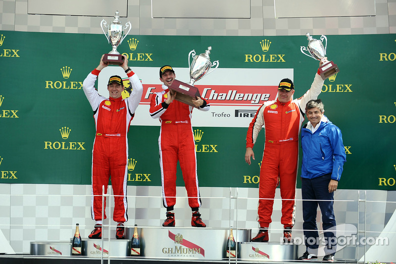 Coppa Shell podium: winnaar Marc Muzzo, 2e plaats Brent Lawrence, 3e plaats Jon Becker