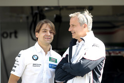 Augusto Farfus, BMW Team RBM BMW M3 DTM and Jens Marquardt, BMW Motorsport Director