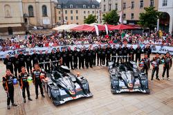 #26 G-Drive Racing Oreca 03 Nissan: Roman Rusinov, John Martin, Mike Conway, #25 Delta-ADR Oreca 03 Nissan: Tor Graves, Shinji Nakano, Archie Hamilton