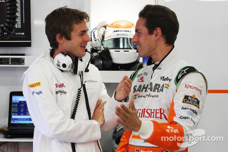 James Rossiter, Sahara Force India F1 Simulator Driver with Bradley Joyce, Sahara Force India F1 Rac