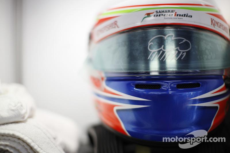 The helmet of Paul di Resta, Sahara Force India F1