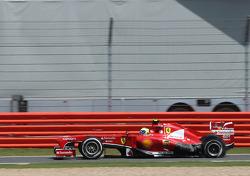 Felipe Massa, Scuderia Ferrari, puncture, tire exploded
