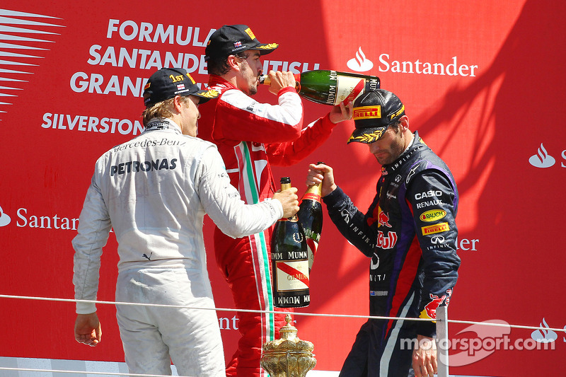 Подіум: 1. Ніко Росберг, Mercedes. 2. Марк Веббер, Red Bull - Renault. 2. Фернандо Алонсо, Ferrari