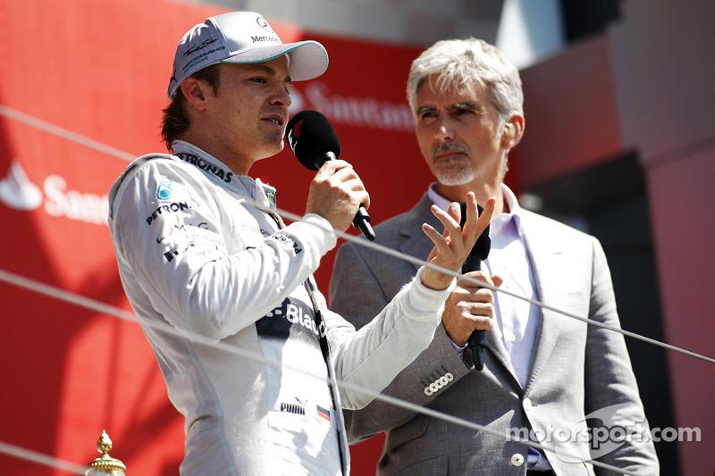 Nico Rosberg y Damon Hill en Silverstone 2013
