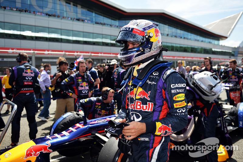 Sebastian Vettel Red Bull Racing RB9 on the grid