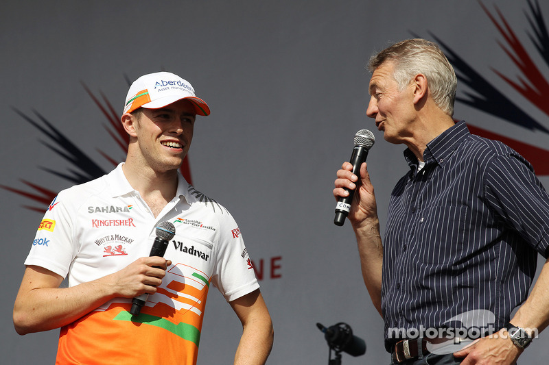 Paul di Resta Sahara Force India F1 and Tony Jardine at the post race concert