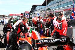 Max Chilton Marussia F1 Team MR02 on the grid