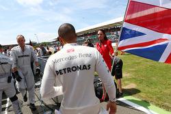 Lewis Hamilton Mercedes AMG F1 on the grid