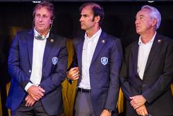 Frank Biela, Emanuele Pirro and Gérard Larousse