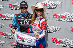 Pole winner Austin Dillon with Miss Coors