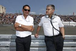 Hans-Juergen Abt, Team manager Audi Sport Team Abt Sportsline with Dieter Gass, Audi DTM