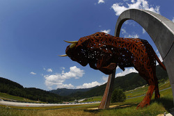The Red Bull statue